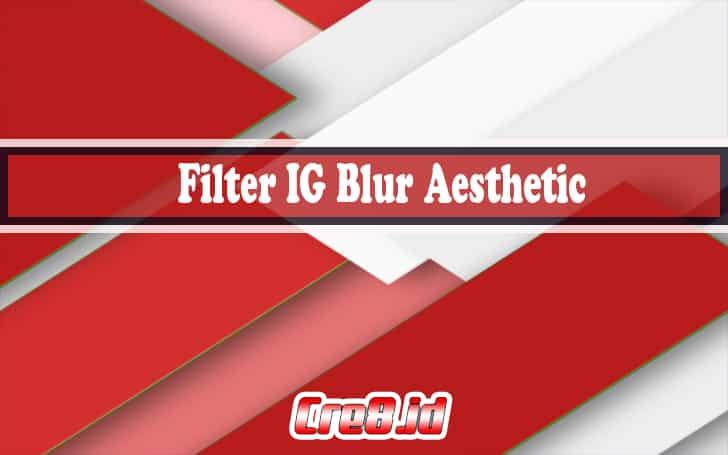 filter ig blur aesthetic